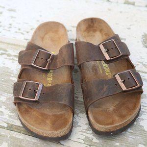 BIRKENSTOCK Brown ARIZONA Leather Sandals 41 8 10